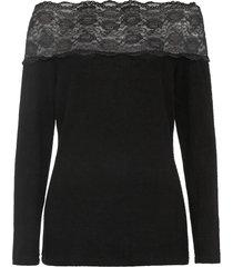 maglia con spalle scoperte e pizzo (nero) - bodyflirt