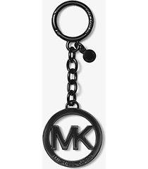 mk portachiavi con logo - nero (nero) - michael kors
