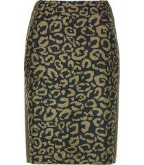 hållbar stickad kjol med glitterstenar
