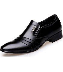boda formales negocios de cuero de la pu mocasines oxford zapatos hombres