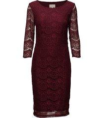 anastacia dress knälång klänning röd minus