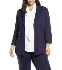 plus size women's ming wang ring detail knit jacket
