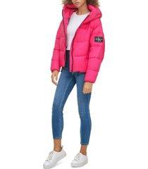 calvin klein jeans hooded puffer jacket