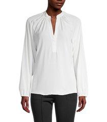 a.l.c. women's jules silk blouse - eggshell - size 6