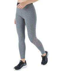 calça legging fila train elastic - feminina - cinza claro