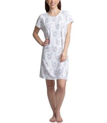 muk luks printed short sleeve sleepshirt nightgown