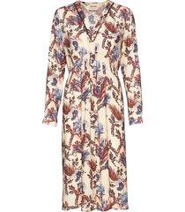 ivy beaux dress jurk knielengte crème mos mosh