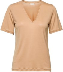 aneilia t-shirts & tops short-sleeved beige by malene birger