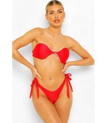essentials string bikini broekje met strikjes, rood
