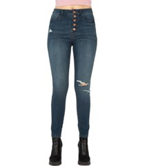 rewash juniors' stevie high-rise button-fly jeans