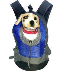 oxford fabric doggy catty 40*35*17cm carrier mochila-azul