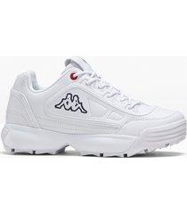 sneaker con plateau kappa (bianco) - kappa
