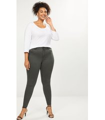 lane bryant women's tighter tummy high rise skinny jean - deep forest 22 pantone deep forest