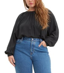 levi's trendy plus size lily shirred top