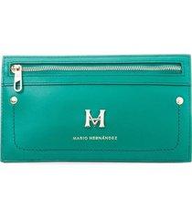 billetera pouch horizontal verde hera