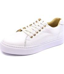 tênis sapatênis shoes grand em couro branco