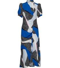 glowiegz dress ze2 20 jurk knielengte blauw gestuz