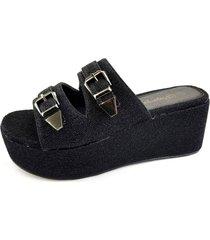 sandalia clona negro chalada