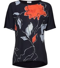 t-shirt 3/4-sleeve r t-shirts & tops short-sleeved blå gerry weber