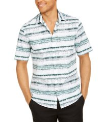 alfani men's classic-fit abstract stripe shirt, created for macy's