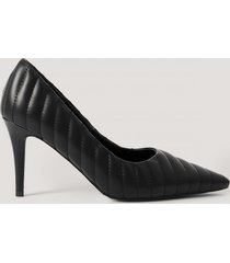 na-kd shoes quilted pointy pumps - black