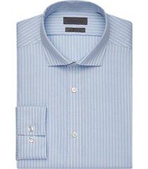 calvin klein infinite mist blue check slim fit dress shirt