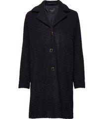 slfnanna teddy coat b wollen jas lange jas blauw selected femme