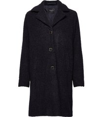 slfnanna teddy coat b wollen jas lange jas blauw selected femme