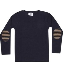 le petit coco elbow patches long sleeve t-shirt