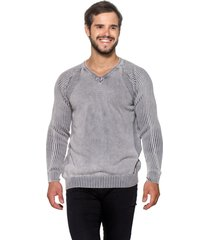 suéter officina do tricô belgica cinza