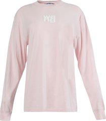 wang puff print long sleeve t-shirt