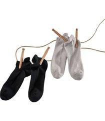 dubbelpak sneakersokken, grijs-gemêleerd 39-42