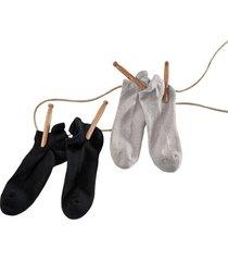 dubbelpak sneakersokken, grijs gemêleerd 43-46