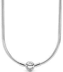 colar de prata pandora - 50 cm