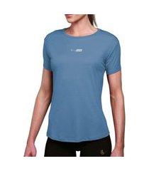 camiseta lupo básica poliamida feminina lupo azul