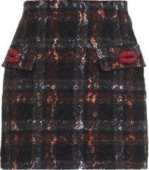 n.21 tartan mini skirt with kiss detail