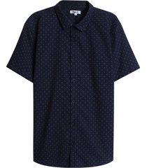 camisa hombre rombos color azul, talla l