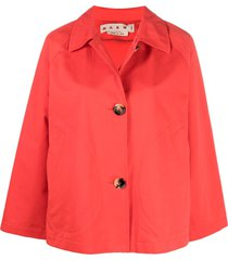 marni cropped a-line jacket - red