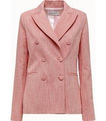 giuliette brown giacca doppiopetto in misto lino