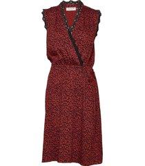 dress knälång klänning röd rosemunde