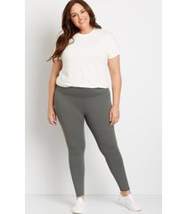 maurices plus size womens high rise olive full length luxe leggings green