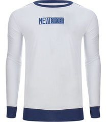 camiseta manga larga new order color azul, talla m