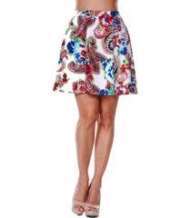 white mark women's paisley heidi skirt