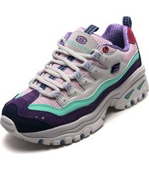 tenis lifestyle multicolor skechers pop connection