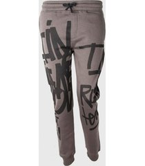 pantalon buzo teen print grafiti verde oscuro family shop