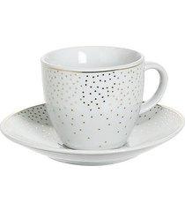filiżanka porcelanowa 6 szt. komplet dots