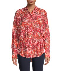 iro women's jacto printed top - red - size 36 (4)