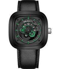 muniti luxury large quadrante quadrante in pelle da uomo orologi orologi impermeabili vita al quarzo militare