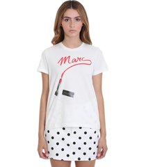 marc jacobs t-shirt in white cotton