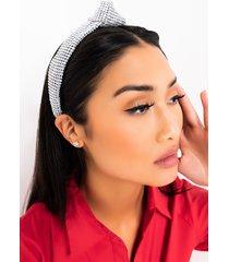 akira top knot rhinestone headband